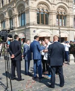 Соколкин с Главой Ингушетии Евкуровым Ю.Б. на Красной Площади в день ВДВ