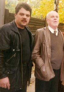 Соколкин с одним из первых переводчиков Расула Гамзатова, лауреатом Госпремии СССР, Владимиром Солоухиным
