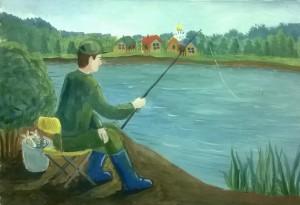 26 Лучкова Лиза. Рыбалка на Дубне