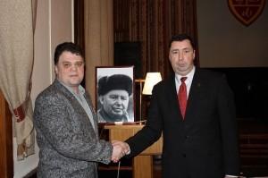 Сергей Соколкин с Главой Лотошинского района Московской области Анатолием Лютенко