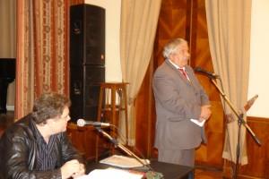 Выступает Председатель СП Дагестана, Народный поэт РД, Лауреат Госпремии Дагестана, Магомед Ахмедов