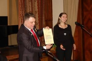 Выступает Председаль Комиссии МГО СП России по работе с молодежью Елена Муссалитина