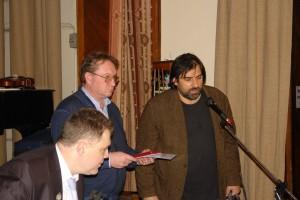 Премию и медаль за Александра Андреевича Проханова  получает сын Василий Александрович Проханов