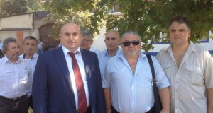 Мэр Махачкалы М.Мусаев, И.Смолькин, С.Соколкин